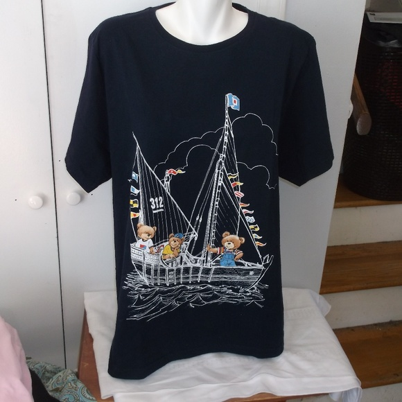 b4dcc3aced11a Bobbie Brooks Woman Tops - Bobbie Brooks Woman Navy Sailing Bears T Shirt  14W